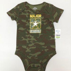 Other - Camo Print Major Cutie Baby Onesie